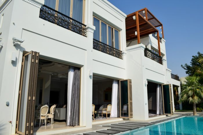 Poolside Paradise at Al Barari with Folding Sliding Doors